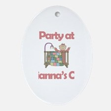 Party at Arianna's Crib Oval Ornament