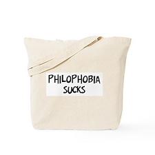 philophobia sucks Tote Bag