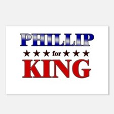 PHILLIP for king Postcards (Package of 8)