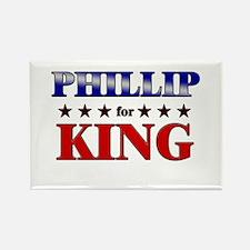 PHILLIP for king Rectangle Magnet