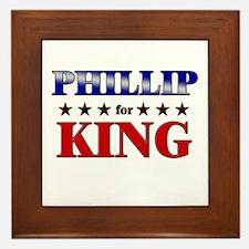 PHILLIP for king Framed Tile