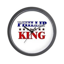 PHILLIP for king Wall Clock