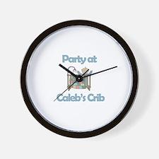 Party at Caleb's Crib Wall Clock