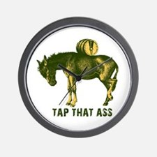 Tap That Ass Donkey Beer Keg Wall Clock