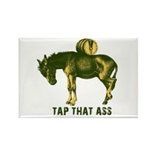 Tap That Ass Donkey Beer Keg Rectangle Magnet