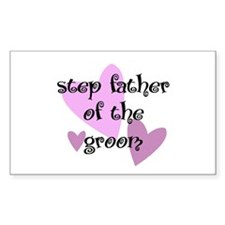 Step Father of the Groom Rectangle Decal