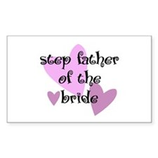 Step Father of the Bride Rectangle Decal