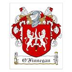 O'Finnegan Family Crest Small Poster