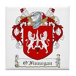 O'Finnegan Family Crest Tile Coaster