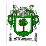 O'Flanagan Family Crest Small Poster