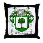 O'Flanagan Family Crest Throw Pillow