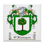 O'Flanagan Family Crest Tile Coaster