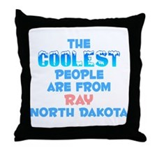 Coolest: Ray, ND Throw Pillow