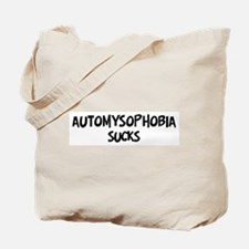 automysophobia sucks Tote Bag