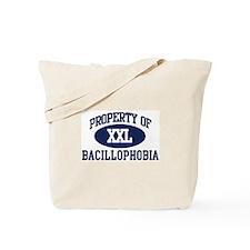 Property of bacillophobia Tote Bag