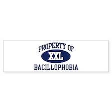 Property of bacillophobia Bumper Bumper Sticker