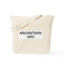 arachnophobia sucks Tote Bag