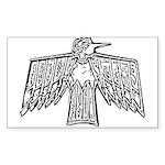 Firebird Rectangle Sticker
