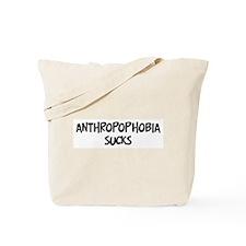 anthropophobia sucks Tote Bag