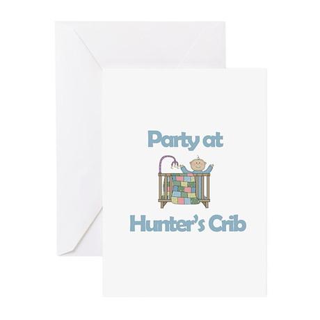Party at Hunter's Crib Greeting Cards (Pk of 10)