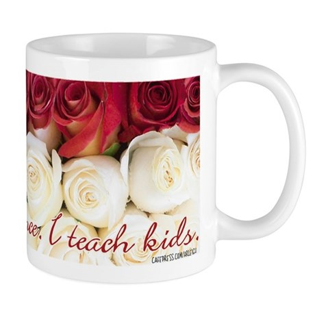 teacher cup with roses