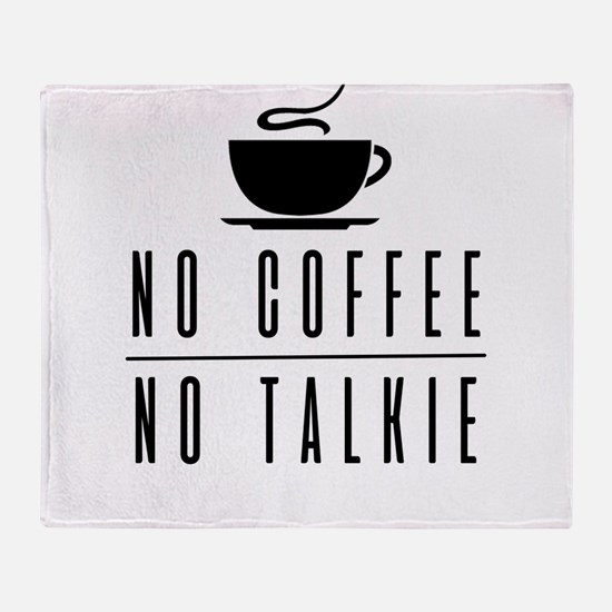 No Coffee, No Workee. Funny Coffee D Throw Blanket