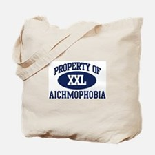Property of aichmophobia Tote Bag