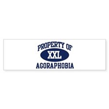 Property of agoraphobia Bumper Bumper Sticker