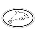 Dolphin Oval Sticker