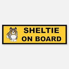 Sheltie on Board (blue merle) Bumper Bumper Bumper Sticker