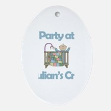 Party at Julian's Crib Oval Ornament