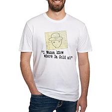 GOLD AT white T-Shirt