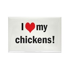 heart my chickens Rectangle Magnet (10 pack)