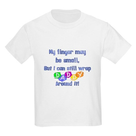 My finger may be small but... Kids Light T-Shirt