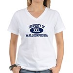 Property of walloonphobia Women's V-Neck T-Shirt