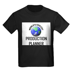 World's Coolest PRODUCTION PLANNER Kids Dark T-Shi