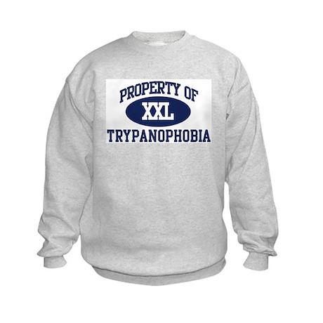 Property of trypanophobia Kids Sweatshirt