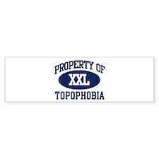 Property of topophobia Bumper Bumper Sticker