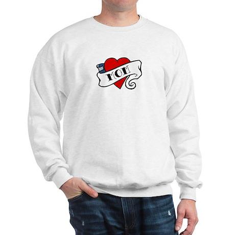 I Love Mom (tattoo style) Sweatshirt