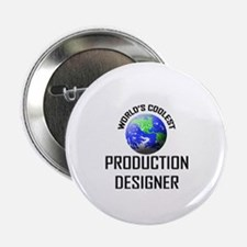 "World's Coolest PRODUCTION DESIGNER 2.25"" Button"