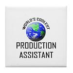 World's Coolest PRODUCTION ASSISTANT Tile Coaster
