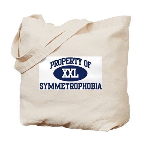 Property of symmetrophobia Tote Bag