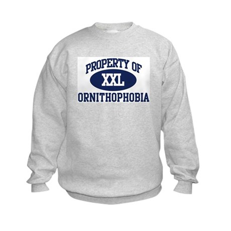Property of ornithophobia Kids Sweatshirt