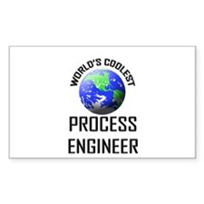 World's Coolest PROCESS ENGINEER Sticker (Rectangu