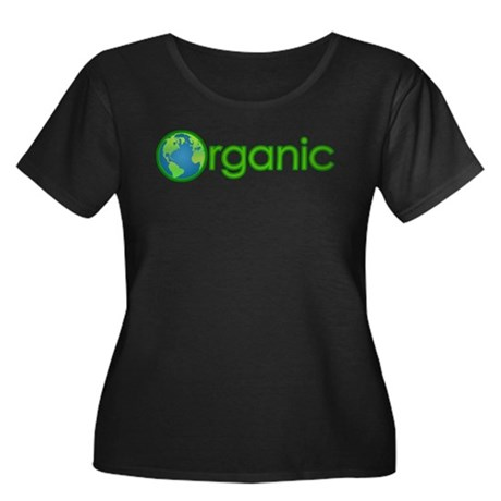 Organic Earth Women's Plus Size Scoop Neck Dark T-