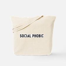 social phobic Tote Bag
