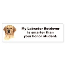 Yellow Labrador Retriever Bumper Sticker - Smart