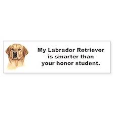 Yellow Labrador Retriever Bumper Sticker - Smart