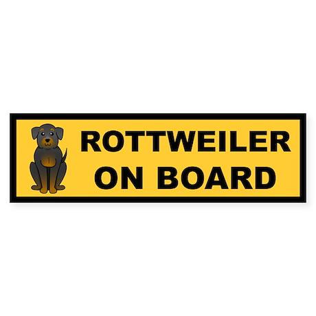 Rottweiler on Board Bumper Sticker