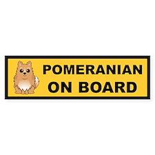 Pomeranian on Board Bumper Bumper Sticker